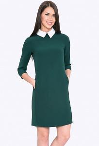 Платье выше колена с воротничком Emka PL440/ivy