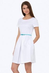 Белая нарядное платье Emka PL-498-1/aqua
