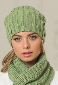Зеленая женская шапка Landre Токио