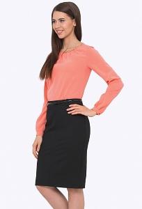 Простая чёрная юбка Emka 675/almaza