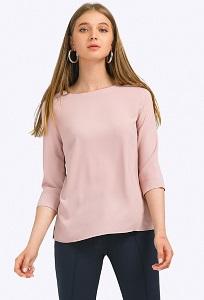 Блузка цвета пыльной розы с рукавами 3/4 Emka B2354/oswalt