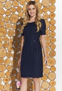 Тёмно-синее платье классического кроя Zaps Mariza
