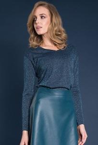 Трикотажная блузка с люрексом Zaps Helene