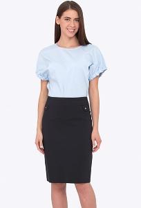 Недорогая классическая юбка на кокетке Emka 686/alondra