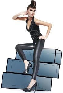 Bas Bleu Ingrid леггинсы спереди кожаные сзади трикотажные