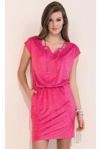 Летнее молодёжное платье розового цвета Zaps Ami