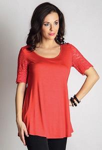 Красная блузка TopDesign A6 103