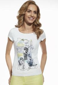 Женская хлопковая футболка с арт принтом Briana 8803