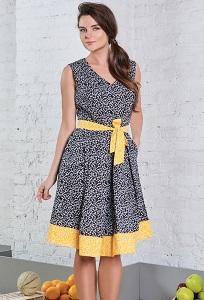 Хлопковое платье TopDesign A8 083