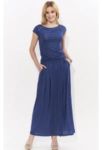 Длинная трикотажная юбка джинсового цвета Zaps Borita