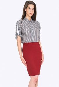 Классическая юбка-карандаш красного цвета Emka 682/tango