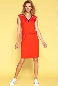 Красное трикотажное летнее платье Zaps Saga