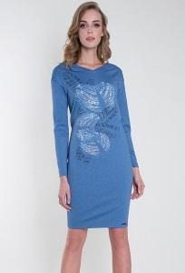 Платье синего цвета Zaps Gerda