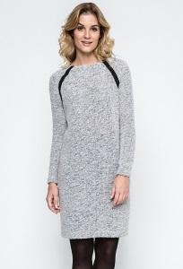 Повседневное платье из светло-серого трикотажа Enny 240103