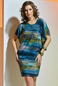 Платье с коротким рукавом TopDesign A4 057