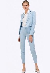 Голубые брюки зауженные книзу Emka D021/dean