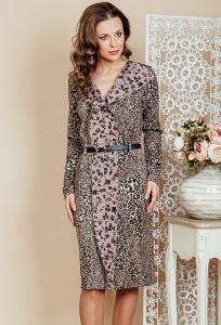 Леопардовое платье из трикотажа TopDesign Premium PB6 28