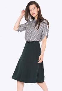 Тёмно-зеленая юбка А-силуэта Emka S708/aspen