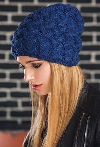 Синяя шапка Supershapka Braid