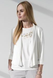 Короткий легкий кардиган белого цвета Sunwear I54-5-08