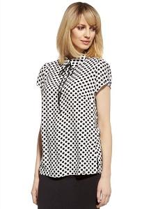 Блузка в чёрный горошек Enny 230069