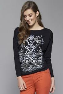 Чёрная блузка с длинным рукавом Zaps Dajmira