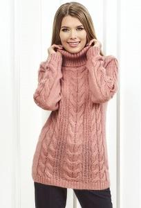 Женский свитер кораллового цвета Andovers Z299
