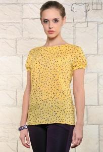 Жёлтая женская блузка Issi 171174