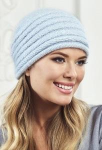 Женская шапка голубого цвета Landre Агата