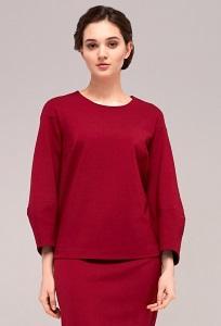 Красный женский джемпер TopDesign B7 012