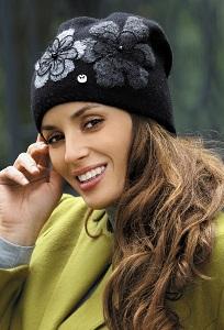 Чёрная женская шапка Kamea Inez-Medium
