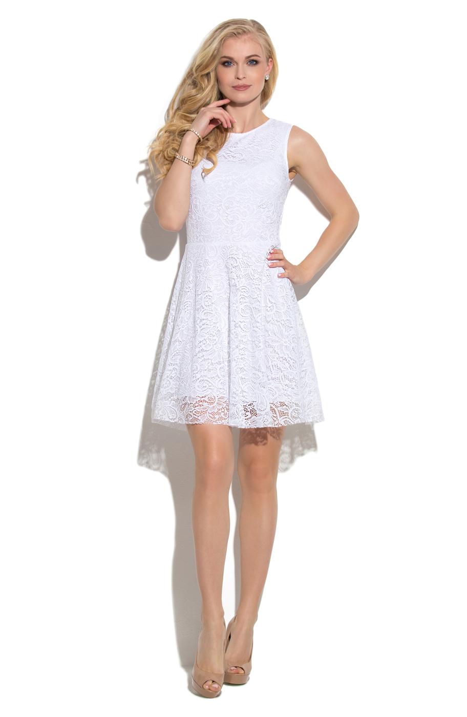 Летние платья белого цвета коктейльные