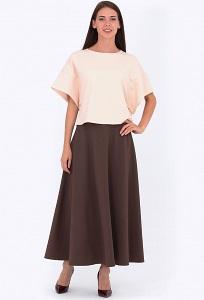 Юбка коричневого цвета Emka Fashion 633-erreya