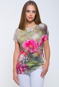 Женская футболка с яркими цветами Issi 171107