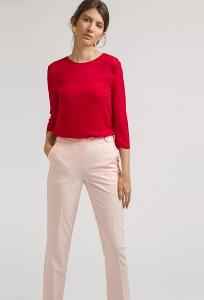 Бледно-розовые зауженные брюки Emka D115/judit
