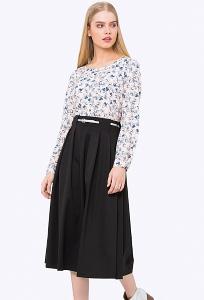 Расклешенная юбка с завышенной талией Emka 722/djolin