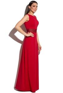 Красное платье в пол без рукавов Donna Saggia DSP-273-56