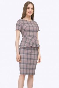 Классическая юбка-карандаш в клетку Emka S663/muffin