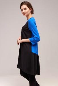Чёрно-синее платье в спортивном стиле TopDesign B7 017
