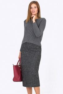 Юбка с узором гусиная лапка Emka-Fashion 501-aisedora