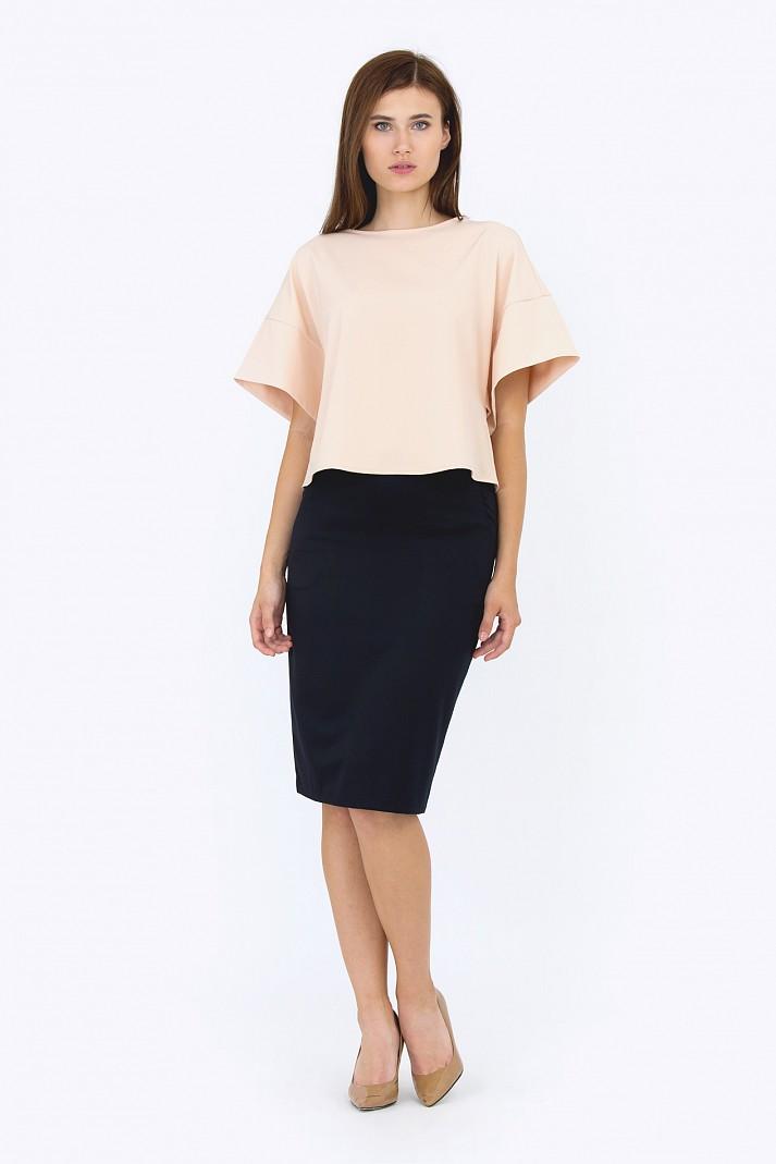 Блузка с рукавами широкими