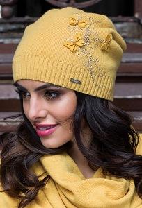 Трикотажная шапка горчичного цвета Kamea Carmela