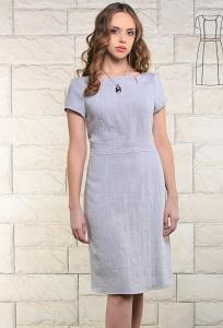 Летнее платье из льна серого цвета Issi 171531