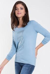 Голубая трикотажная блузка Zaps Lira