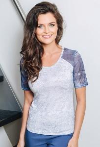 Женская летняя блузка с коротким рукавом TopDesign A7 079