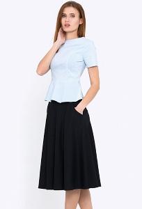 Расклешенная юбка на кокетке Emka 527/shelbi
