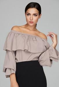 Женская блузка с широким воланом Donna Saggia DSB-47-46