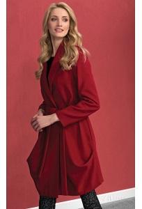 Женское красное шерстяное пальто Zaps Ever