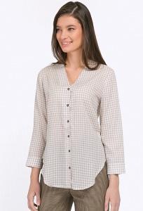 Рубашка из фактурной ткани в мелкую клетку Emka B2218/liga