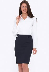 Стильная тёмно-синяя юбка Emka Fashion 681/carmelita